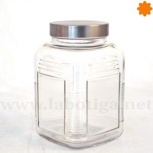 Bote cristal rectangular con Cierre Metálico El pequeño del conjunto