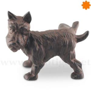 El perro con la pata levantada es un sujeta puertas original
