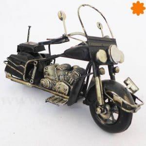 Figura de metal Moto Chopper Harley Davidson negra