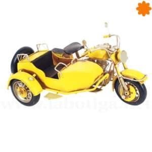 Figura de metal Sidecar amarillo