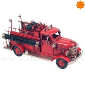 Figura de metal camión de bomberos decorativo