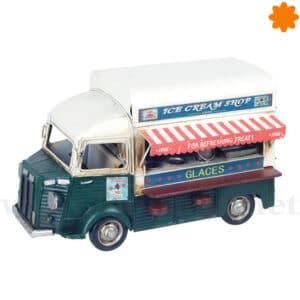 Furgoneta food truck de metal con toldo de colores