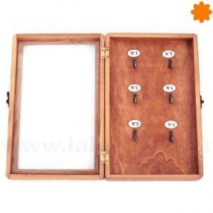 Guarda llaves de madera con forma de caja