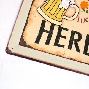 Ice cold beer Placa