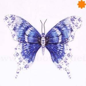 Placa de metal para la pared figura con forma de mariposa