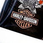 Placa metálica retro Harley Davidson