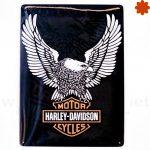 Placa metálica retro Harley Davidson Genuine