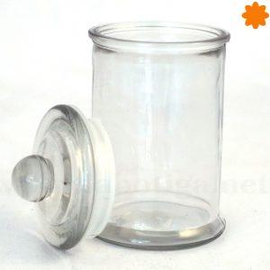 Tarro de cristal totalmente cilíndrico con tapa hermético para comida