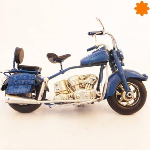 figura de una chopper azul ideal para regalar a un motero