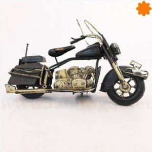 figura de unamoto Chopper Harley Davidson de color negro