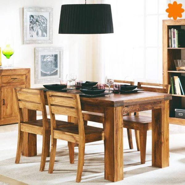 mesa rústica de madera de pino zoom 50025