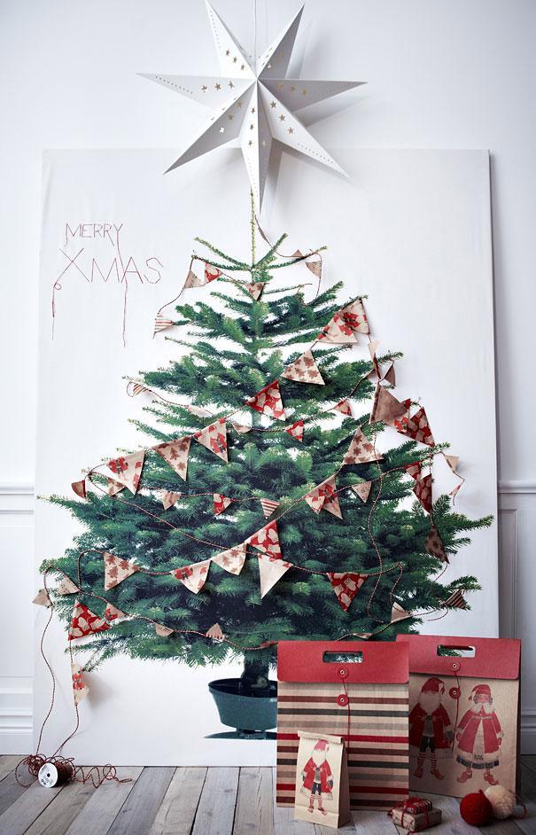 Diy arbol de navidad en la pared