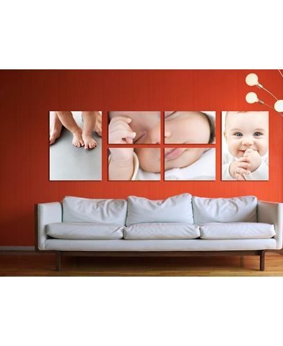 cuadro de piezas con niño