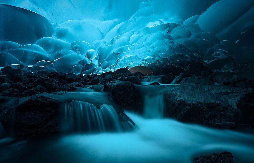 cuevas de hielo Mendenhall Juneau Alaska