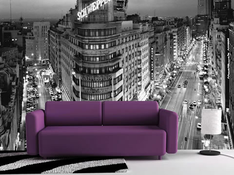 gran foto detras del sofá