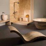 Ideas para decorar un baño de piedra estilo minimalista