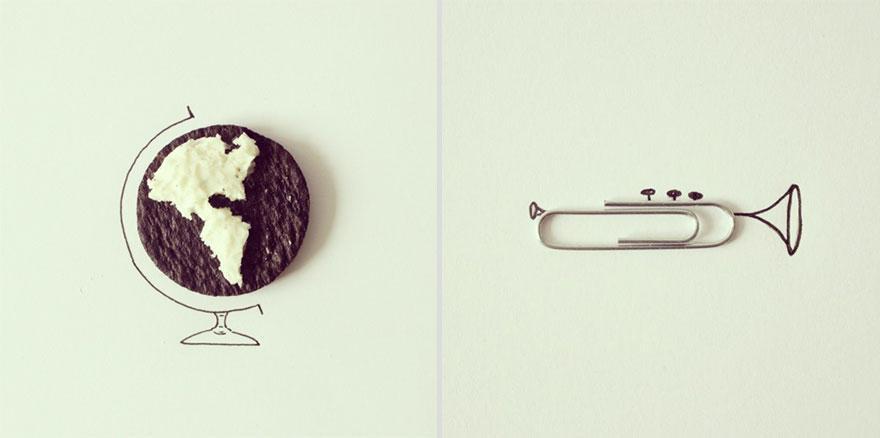 bola del mundo y clip