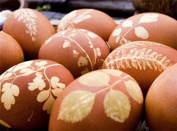 huevos con telas hervidos en te