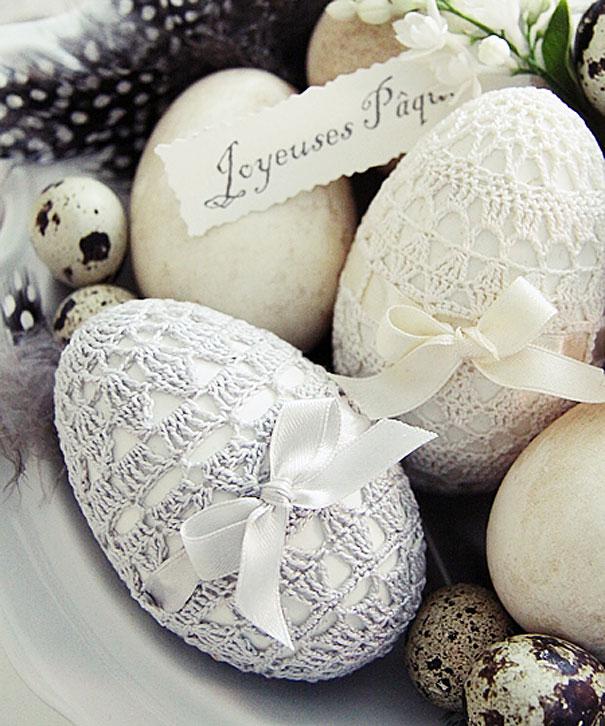 huevos de pascua de macrame