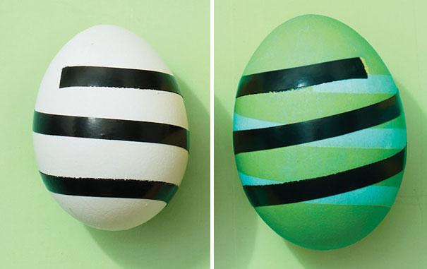 huevos tuneados con cinta
