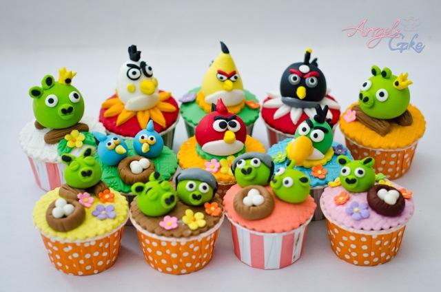 Angry Birds juntos Cupcakes