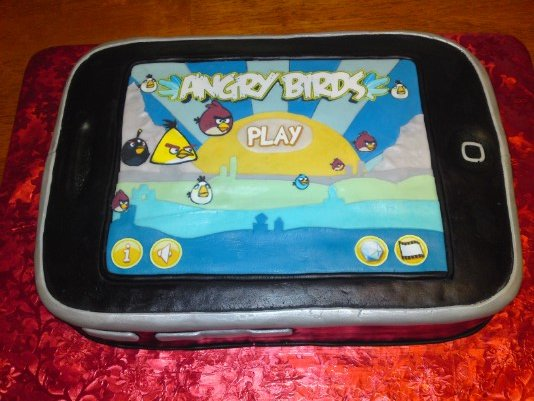 Angry Birds tablet Cake