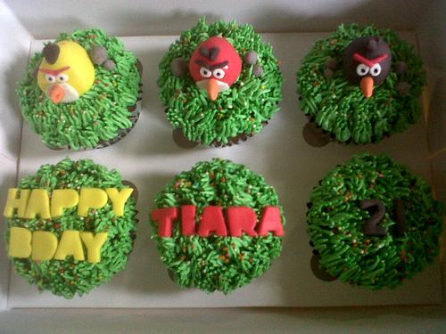 Como hacer caja de cupcakes de los Angry Birds
