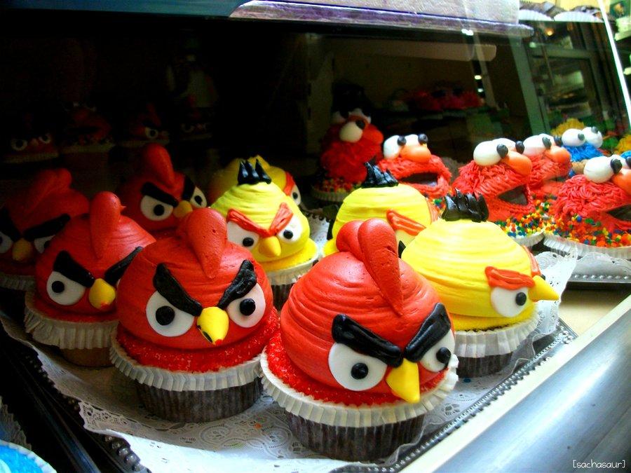 Como hacer cupcakes de los Angry Birds