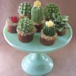 Cupcakes Decorados con Formas de Cactus