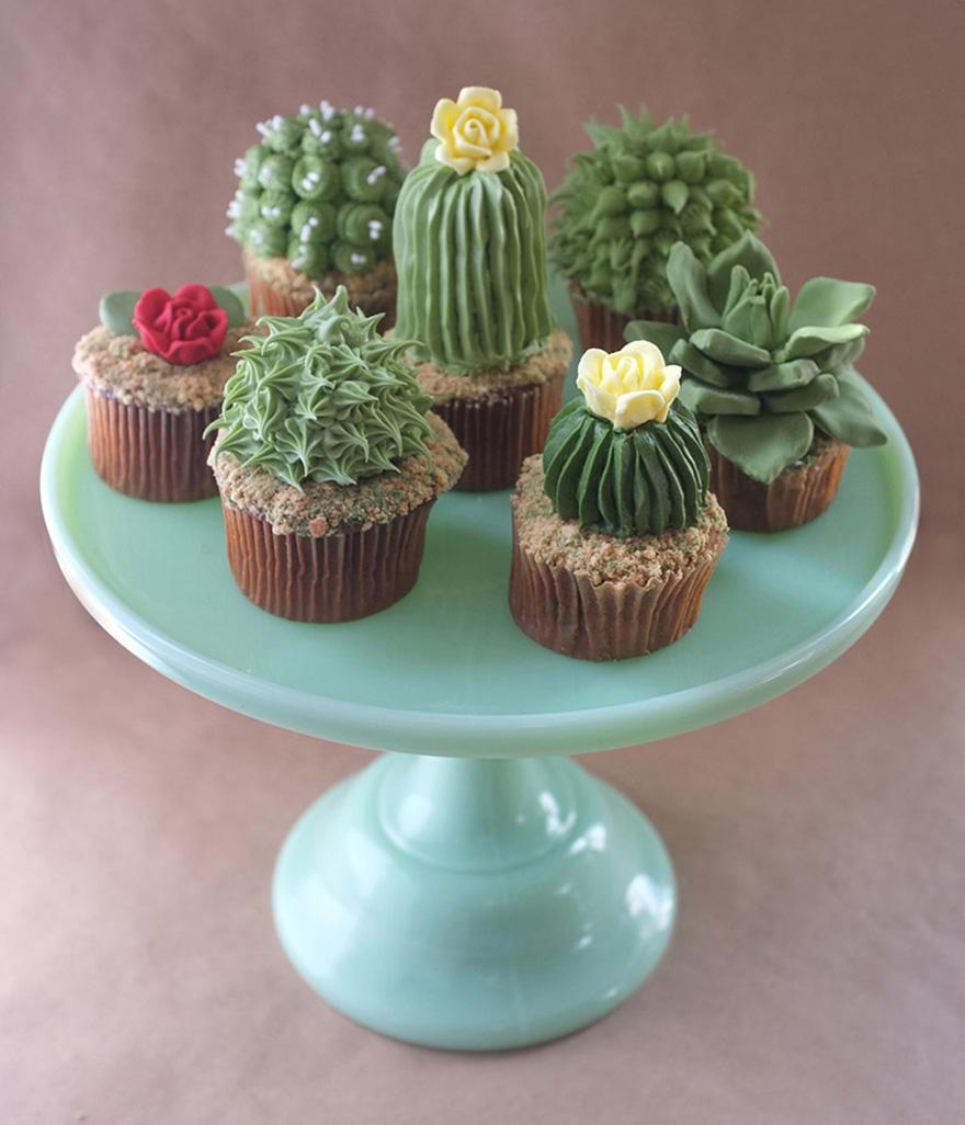 Cupcakes Decorados Con Formas De Cactus Son Simplemente