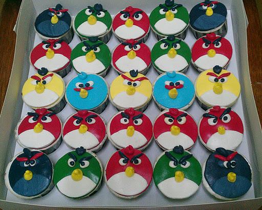 caja de Angry Birds Cupcakes