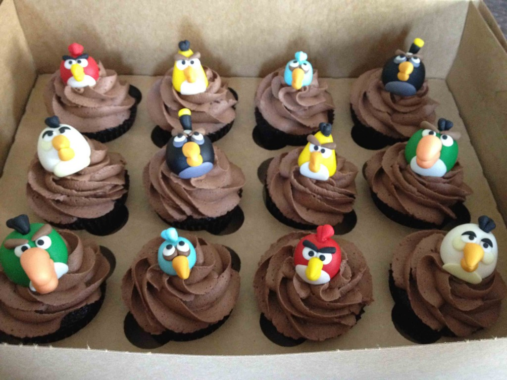 cupcakes de chocolate Angry Birds