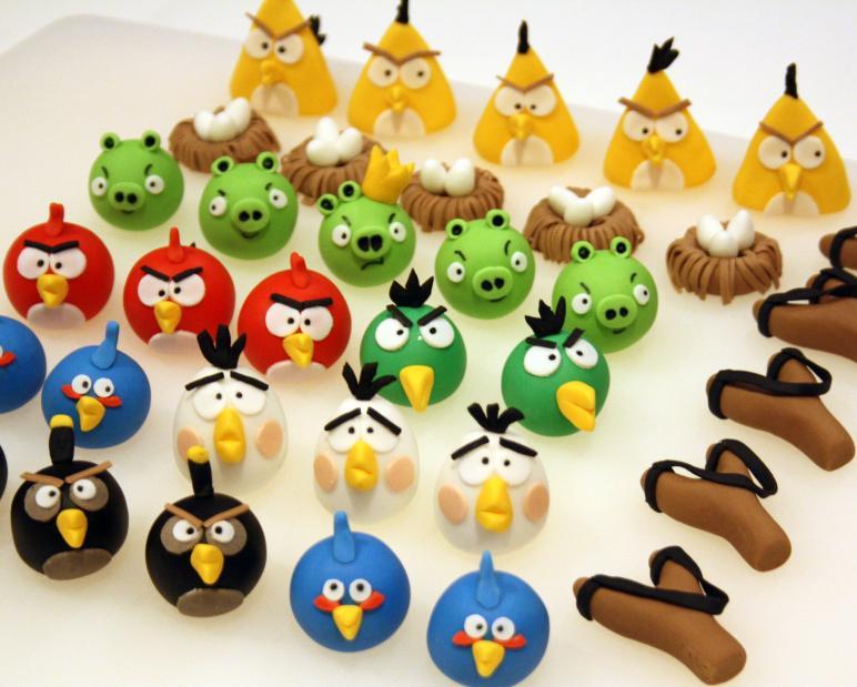 detalles de azucar con los Angry Birds