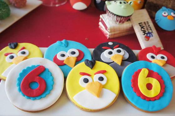 tapas de madalena los Angry Birds