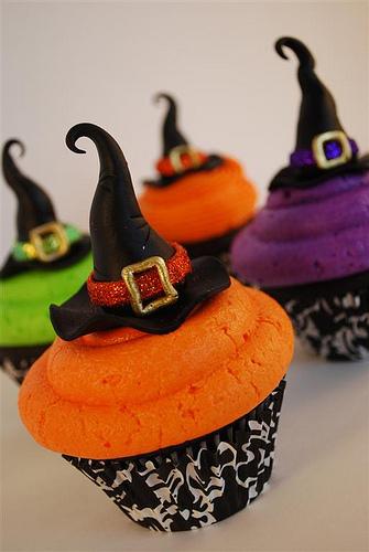 Cupecakes de Halloween bruja