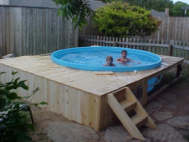 piscina DiY de madera