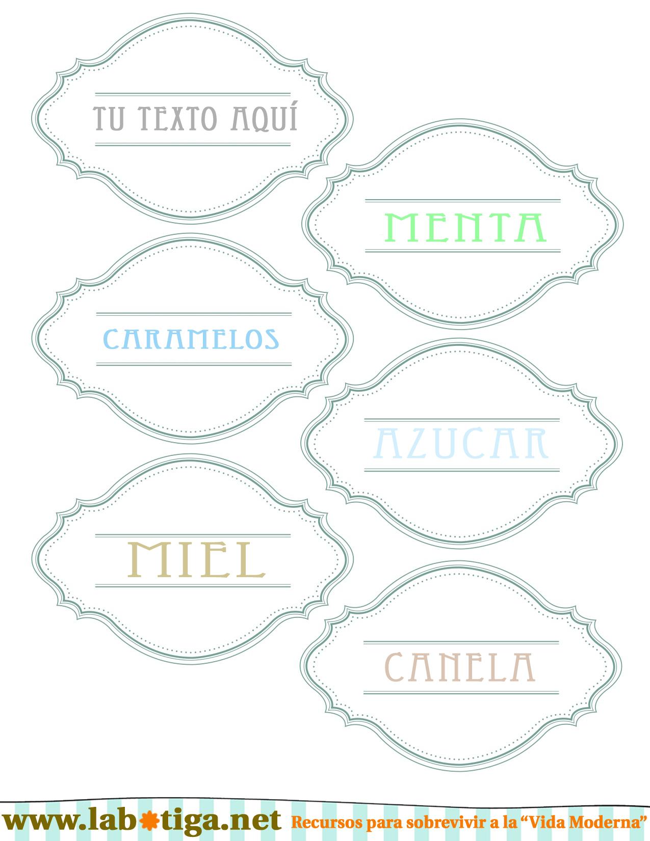 Etiquetas retro para marcar tarros cristal descarga for Tarros de cristal vintage