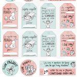 Etiquetas de regalo molonas para la Navidad – Descarga Gratis