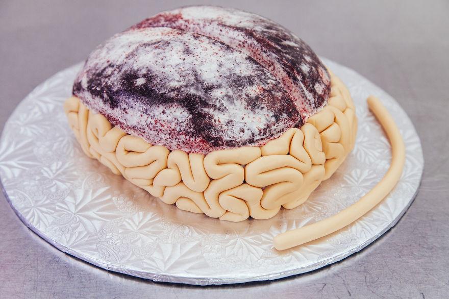 Bse del pastel de cerebro