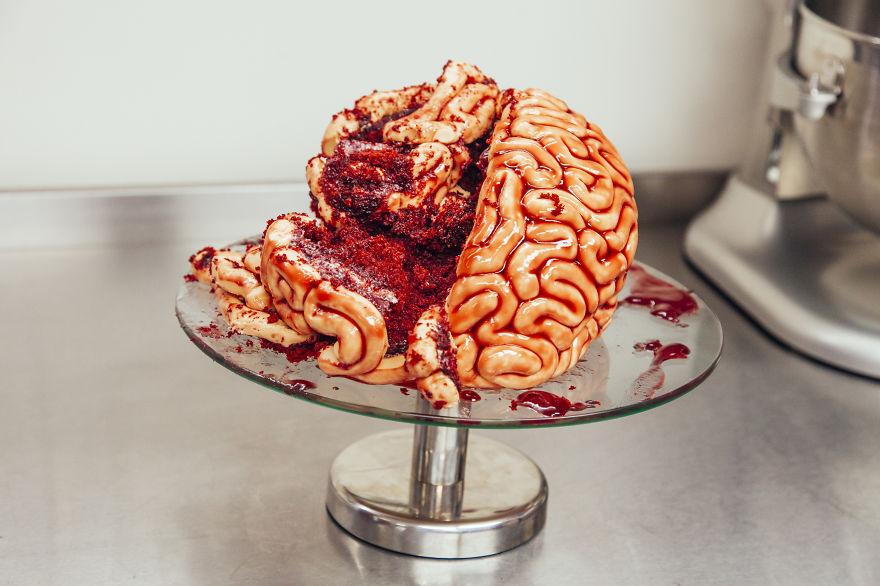 Halloween cerebro para comer