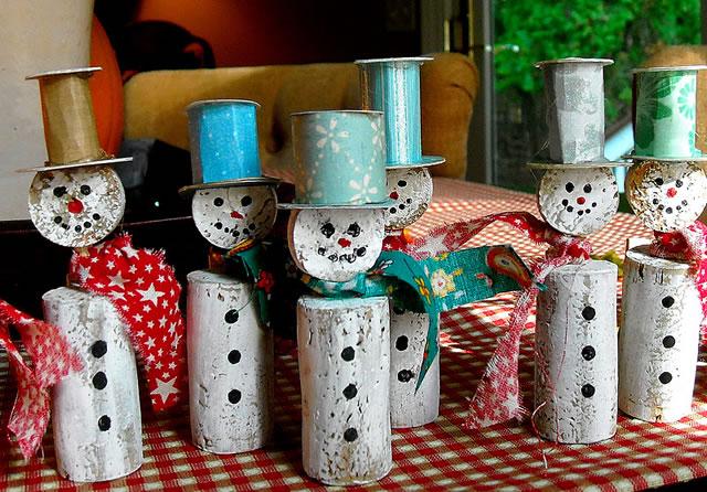 divertidos muñecos de nieve DiY