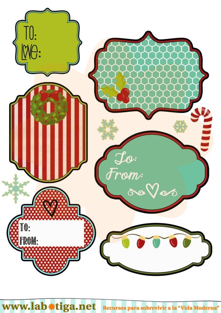 etiquetas imprimibles Merry Christmas