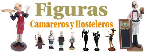 figuras de camareros hosteleros-bandejas