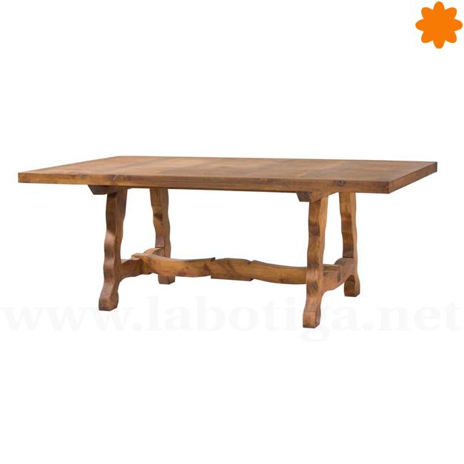 Estupenda mesa madera para comedor Estilo Rústico 6 comensales