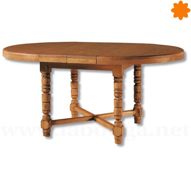 Mesa de comedor extensible ovalada y redonda según quieras