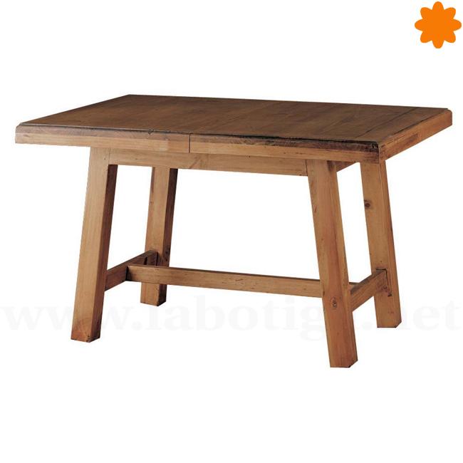 Mesa de centro extensible de madera maciza Ideal cocina (120x79x75)