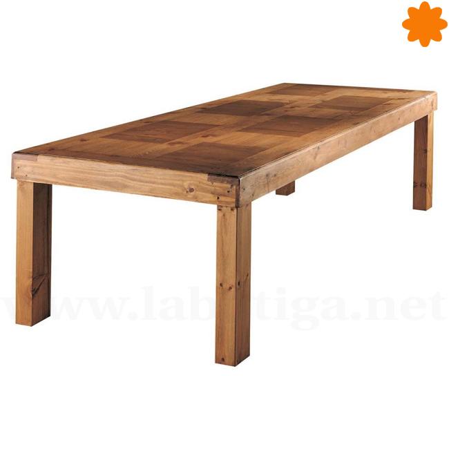Gran mesa madera maciza para comedor 8 personas 350x110