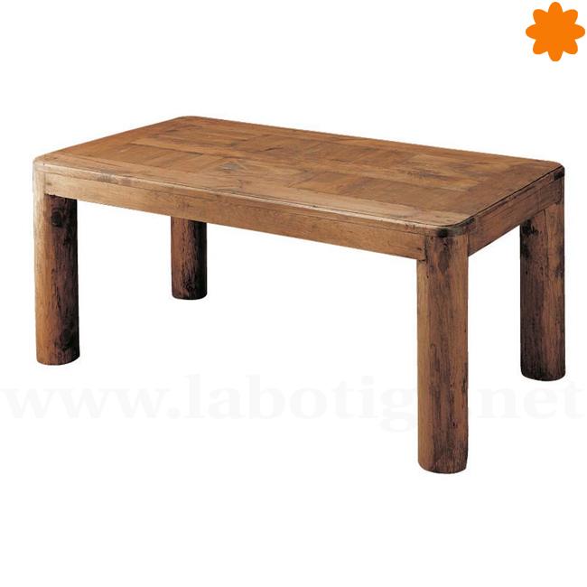Mesa Comedor grande estilo rústico y patas en forma de tronco