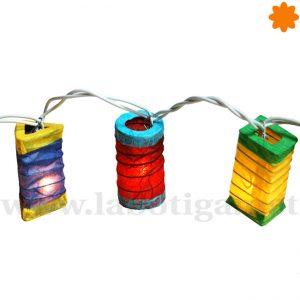 Guirnalda de luz con 20 farolillos de colores