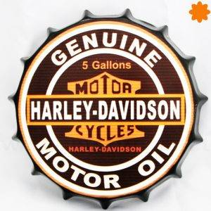 Rótulo metálico Harley Davidson